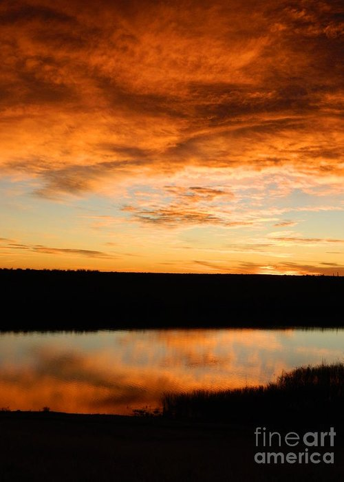 Sunrise Greeting Card featuring the photograph Sunrise Reflections by Sara Mayer