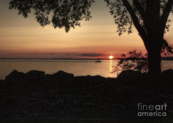 Sunset Greeting Card featuring the photograph Sunset Cruise by Pamela Baker