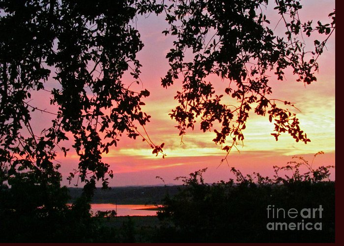 Sunset Greeting Card featuring the photograph Sunset Over Canyon Lake by Randi Shenkman