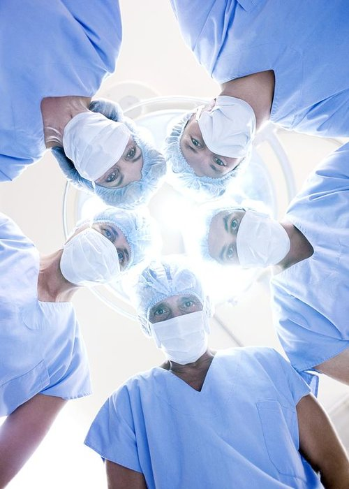 20s Greeting Card featuring the photograph Surgical Team by