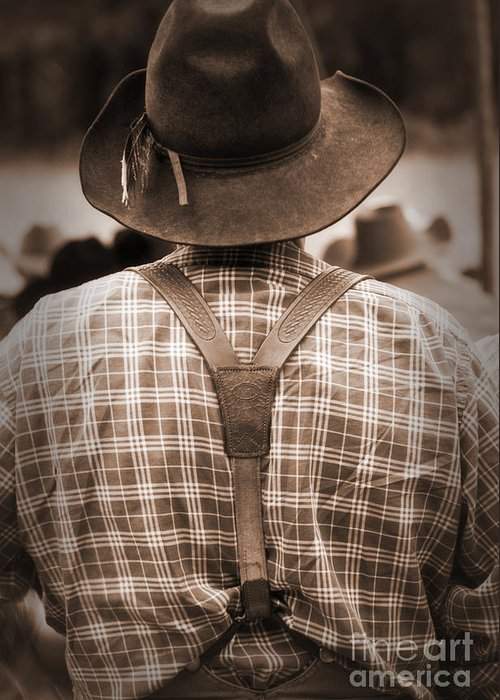 Cowboy Greeting Card featuring the photograph Suspended by Fred Lassmann