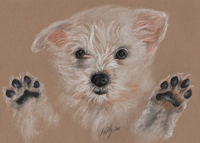 Dog Greeting Card featuring the drawing Take Me Home by Kathleen Kelly Thompson