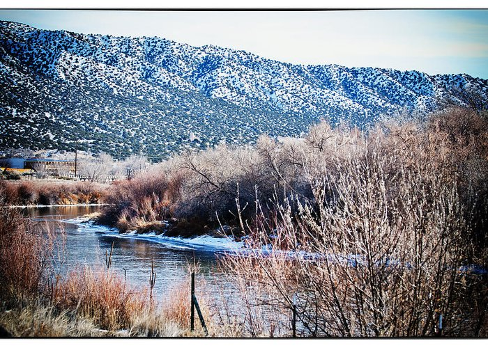 Landscape Greeting Card featuring the photograph Taos Creek by Lisa Spencer
