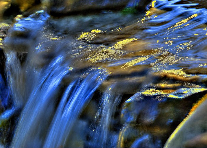 Waterfall Greeting Card featuring the photograph Taylor Waterfall by David Clark