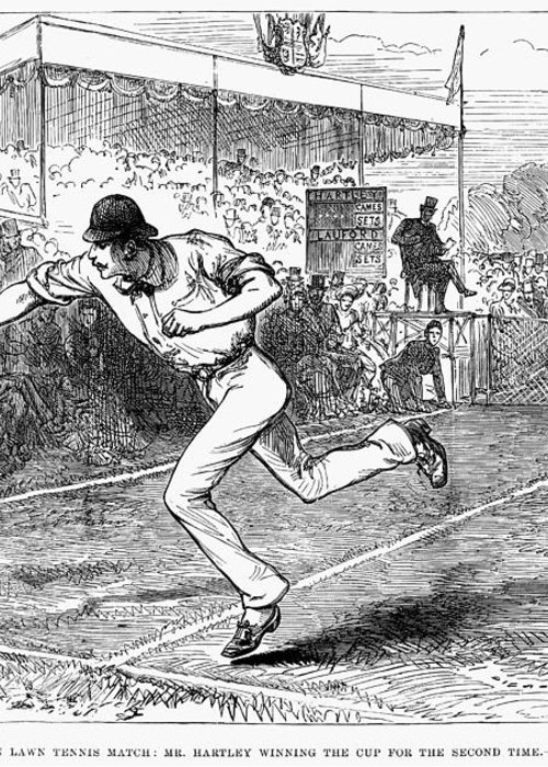 1880 Greeting Card featuring the photograph Tennis: Wimbledon, 1880 by Granger