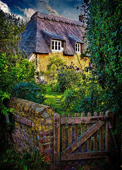 Thatch Greeting Card featuring the photograph Thatched Roof Country Home by Chris Lord