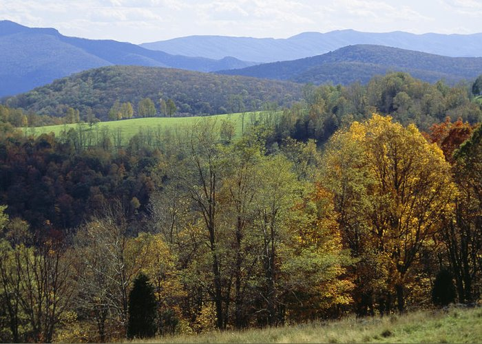 North America Greeting Card featuring the photograph The Allegheny Front, North Fork by Raymond Gehman