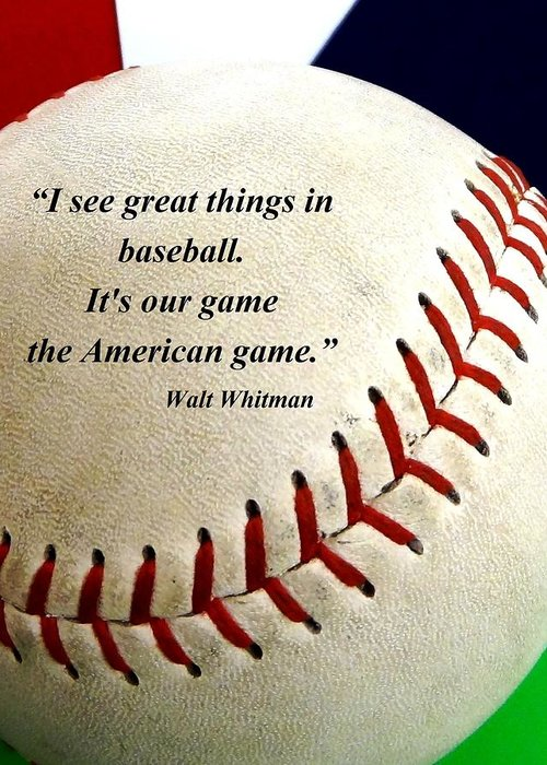 The American Game Greeting Card featuring the photograph The American Game by Christopher Kerby