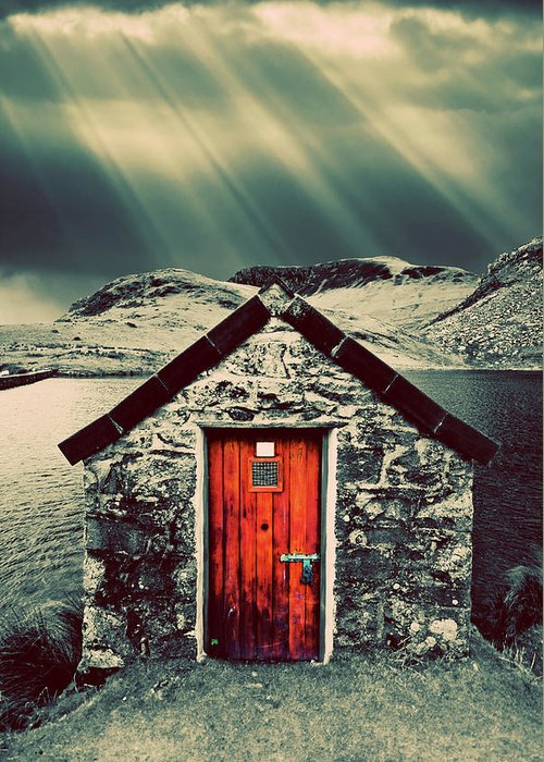 Snowdonia Greeting Card featuring the photograph The Boathouse by Meirion Matthias