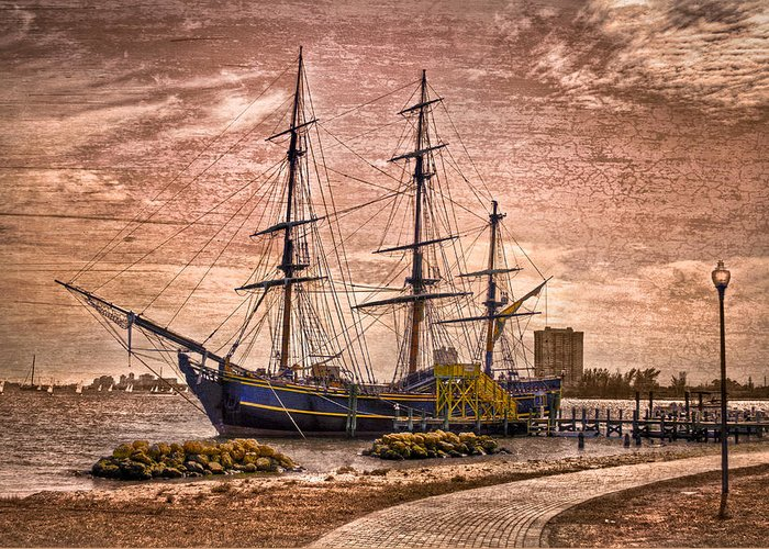 Boats Greeting Card featuring the photograph The Bounty by Debra and Dave Vanderlaan