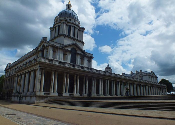 Lord Admiral Nelson Greeting Card featuring the photograph The Chapel At The Royal Naval College by Anna Villarreal Garbis