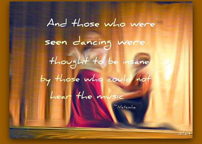 Van Gogh Greeting Card featuring the photograph The Dance by Michelle Frizzell-Thompson