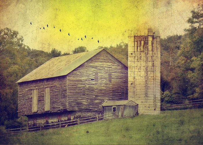 Barn Greeting Card featuring the photograph The Establishment by Kathy Jennings