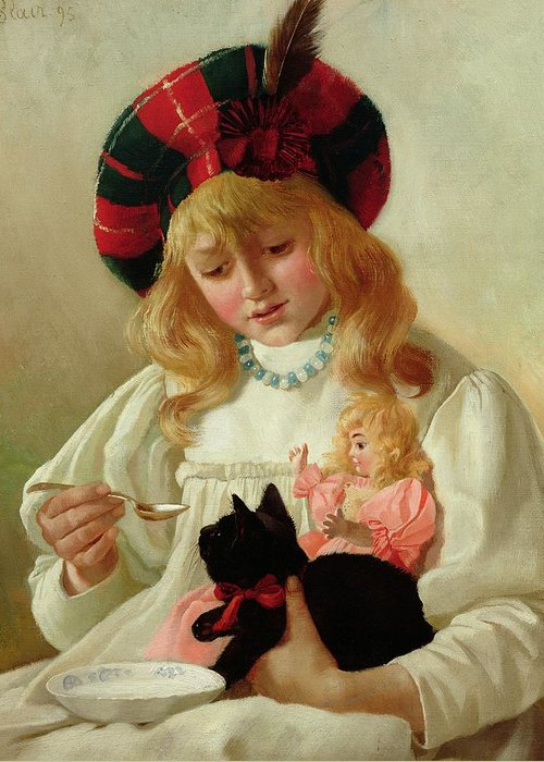 Sweet Greeting Card featuring the painting The Favorites by CH Blair