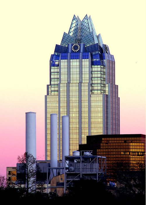 Frost Tower Greeting Card featuring the photograph The Frost Tower by Lisa Spencer