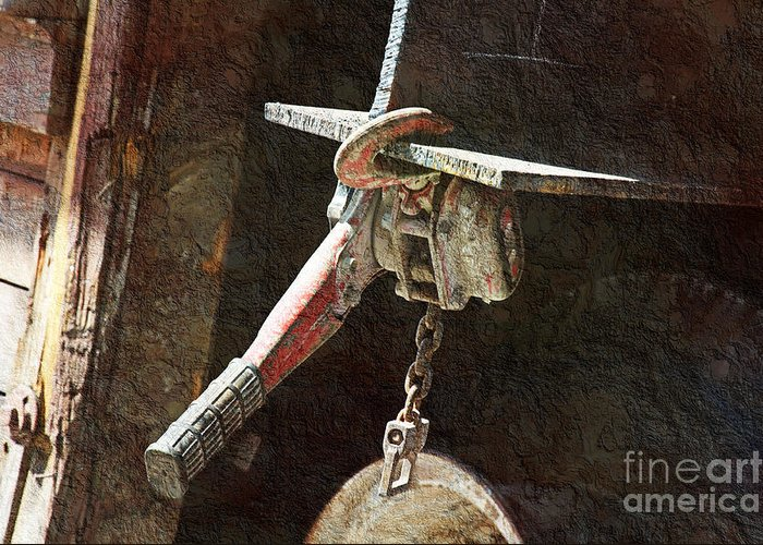 Tool Greeting Card featuring the photograph The Great Hoist by Andee Design