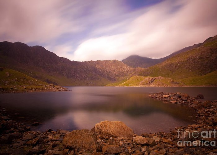 Llyn Llydaw Greeting Card featuring the photograph The Horseshoe by Jan Allen
