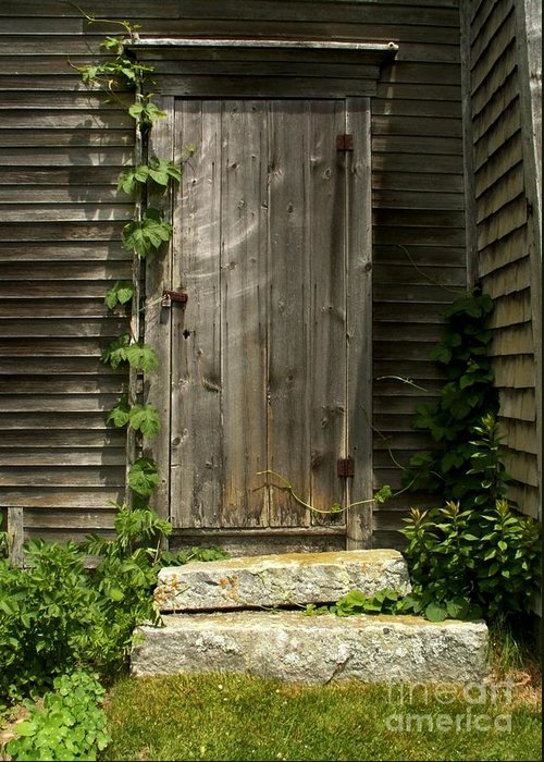 Door Greeting Card featuring the photograph The Ivied Door by Theresa Willingham