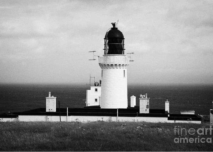Dunnet Greeting Card featuring the photograph The Lighthouse At Dunnet Head Most Northerly Point Of Mainland Britain Scotland by Joe Fox