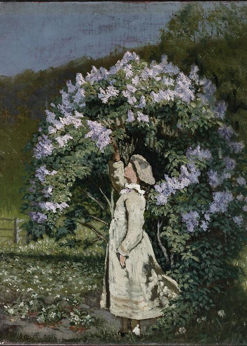 Ovr371683 Greeting Card featuring the photograph The Lilac Bush by Olaf Isaachsen