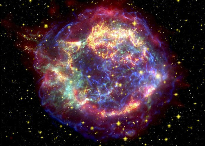 Stars Greeting Card featuring the photograph The Many Sides Of The Supernova Remnant by Nasa