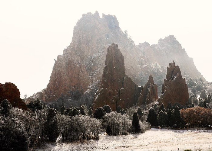 Garden Of The Gods Greeting Card featuring the photograph The Morning After by The Forests Edge Photography - Diane Sandoval