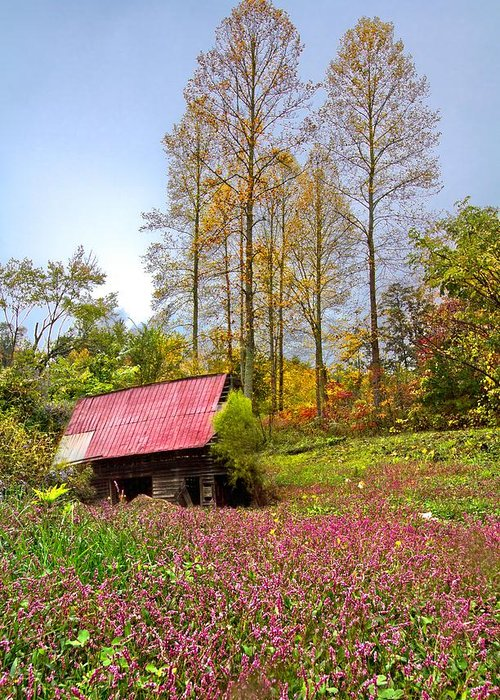 Appalachia Greeting Card featuring the photograph The Old Barn At Grandpas Farm by Debra and Dave Vanderlaan