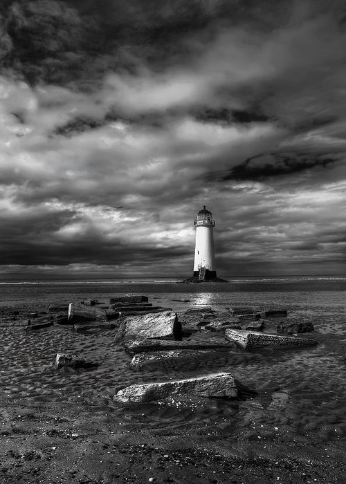 Beach Greeting Card featuring the photograph The Old Lighthouse by Adrian Evans