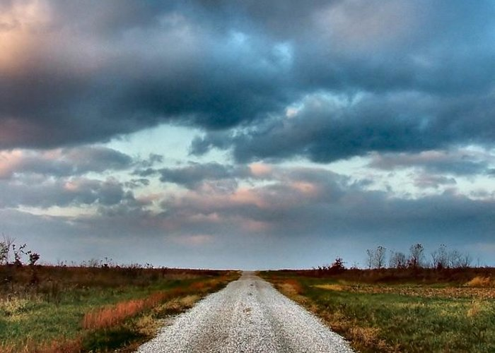 Julie Dant Photography Greeting Card featuring the photograph The Road To Somewhere by Julie Dant