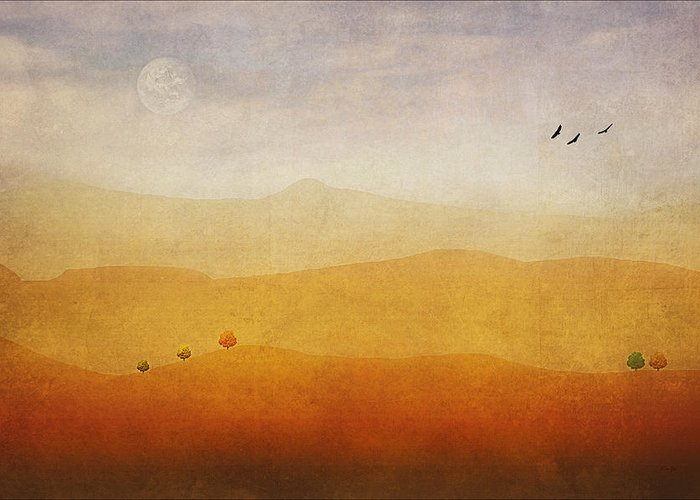 Digital Art Greeting Card featuring the photograph The Rolling Hills by Tom York Images