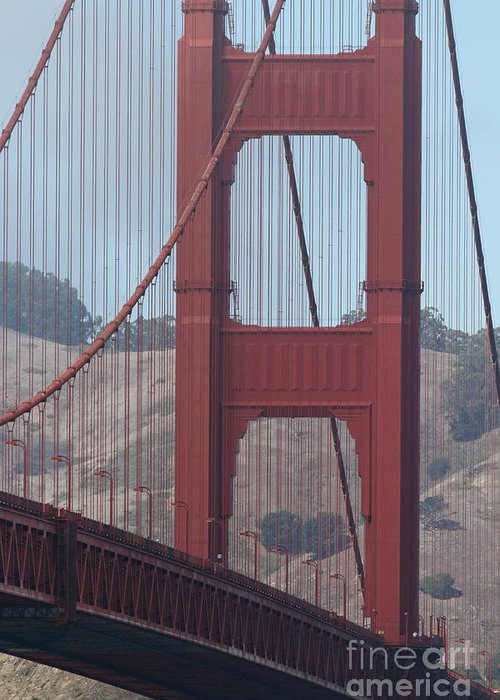 San Francisco Greeting Card featuring the photograph The San Francisco Golden Gate Bridge - 7d19061 by Wingsdomain Art and Photography