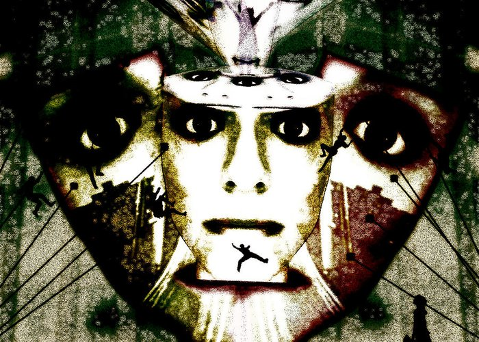 Face In Face Greeting Card featuring the mixed media The Source by Jenn Bodro