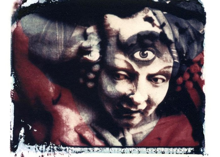 Polaroid Transfer Greeting Card featuring the photograph The Third Eye Polaroid Transfer by Jane Linders