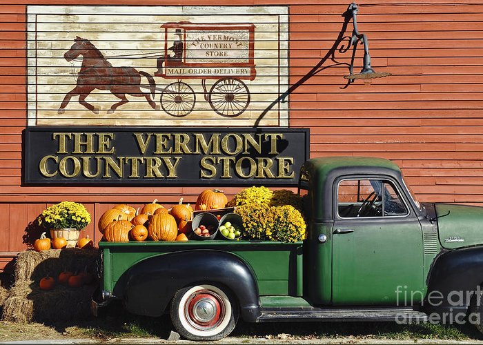 Americana Greeting Card featuring the photograph The Vermont Country Store by John Greim