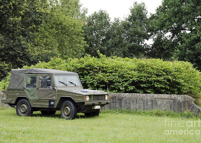 Belgium Greeting Card featuring the photograph The Vw Iltis Jeep Used By The Belgian by Luc De Jaeger