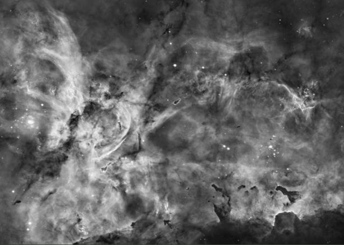 Galaxy Greeting Card featuring the photograph This View Of The Carina Nebula by ESA and nASA