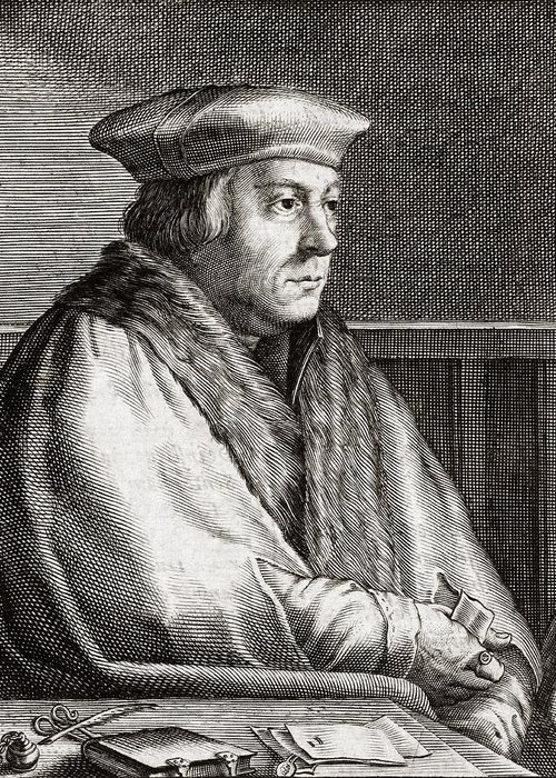 Thomas Greeting Card featuring the photograph Thomas Cromwell, English Statesman by Middle Temple Library