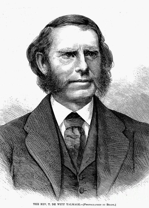 1872 Greeting Card featuring the photograph Thomas De Witt Talmadge by Granger