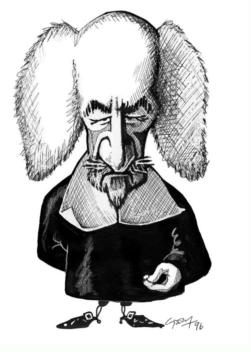 Thomas Hobbes Greeting Card featuring the photograph Thomas Hobbes, Caricature by Gary Brown