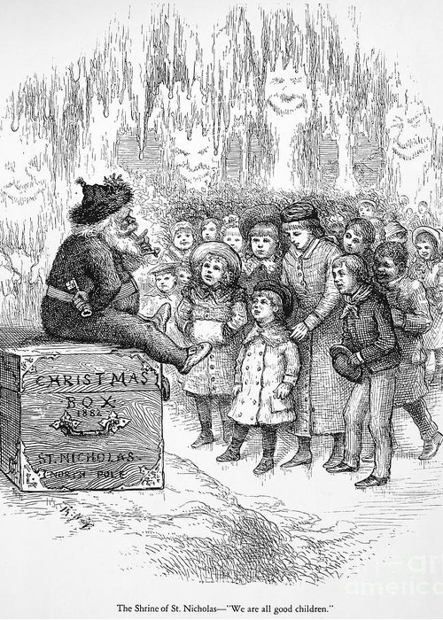 19th Century Greeting Card featuring the photograph Thomas Nast: Christmas by Granger