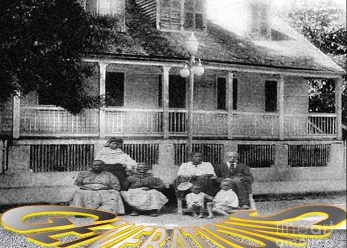 Black History Greeting Card featuring the digital art Three Generations by Belinda Threeths