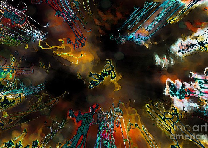 Abstract Greeting Card featuring the photograph Time Flies by Jeff Breiman