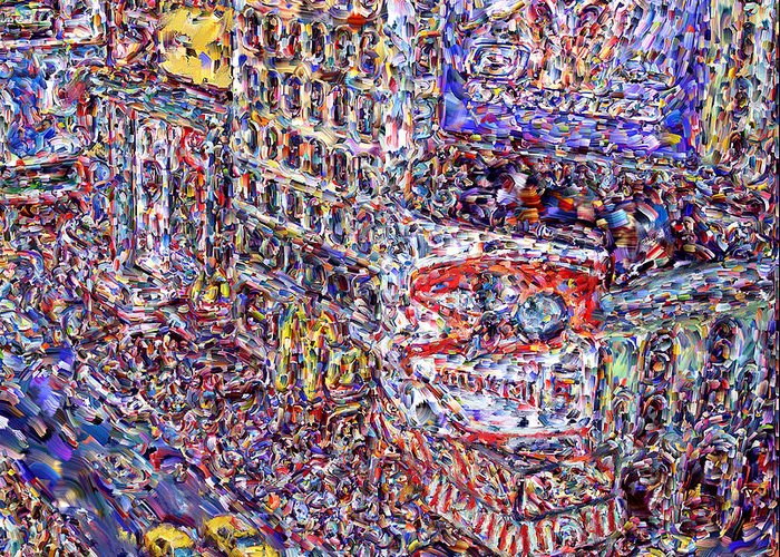 Nyc Greeting Card featuring the digital art Times Square by Marilyn Sholin