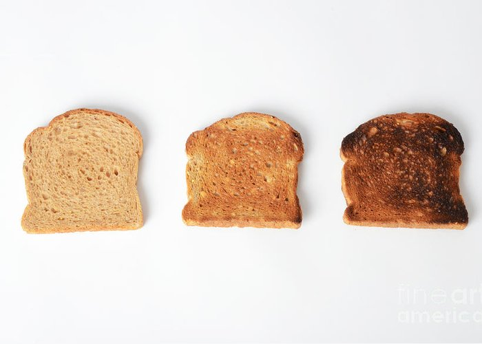 Toast Greeting Card featuring the photograph Toasting Bread by Photo Researchers, Inc.