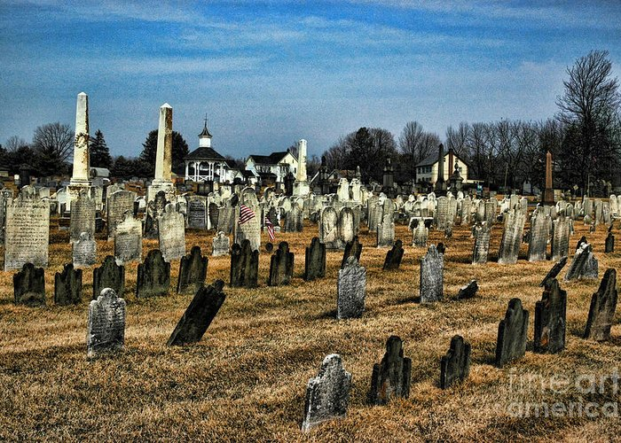Tombstones Greeting Card featuring the photograph Tombstones by Paul Ward