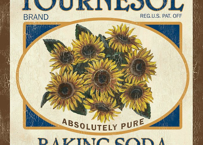 Sunflower Greeting Card featuring the painting Tournesol Baking Soda by Debbie DeWitt
