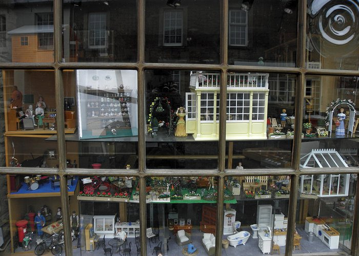 Toy Greeting Card featuring the photograph Toy Shop Window by Diane Barrett