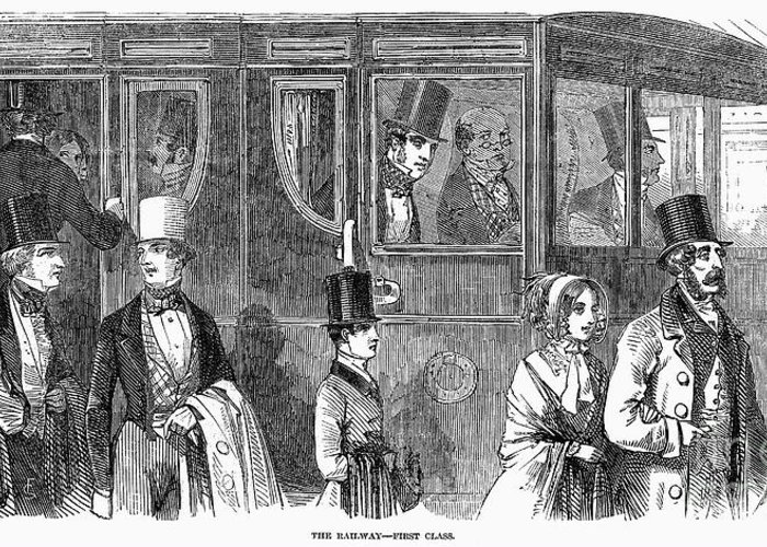 1847 Greeting Card featuring the photograph Train Travel: First Class by Granger