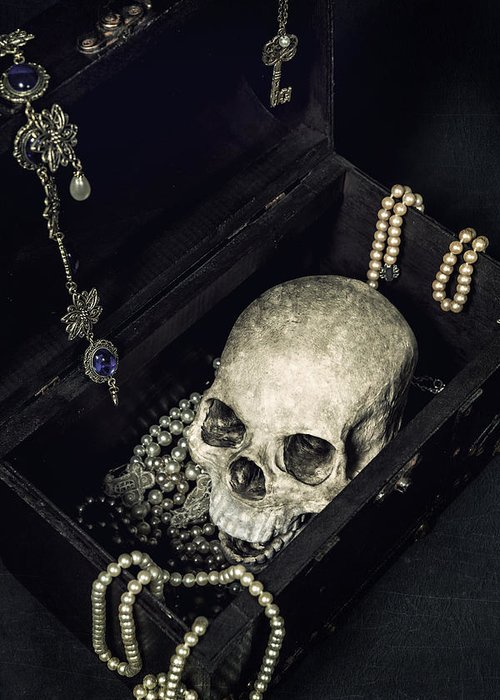 Skull Greeting Card featuring the photograph Treasure Chest by Joana Kruse