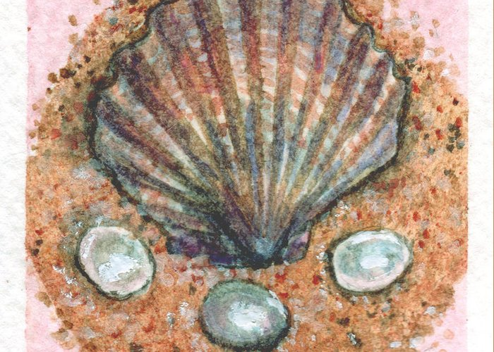 Sea Greeting Card featuring the painting Treasure Of The Sea by Sabrina Khan